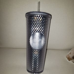 Silver Starbucks 2019 Holiday Studded Cold Tumbler